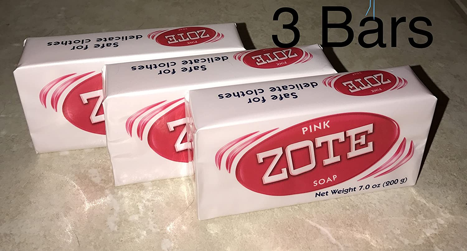 Zote Pink Soap Pack of 3 Total 7 oz