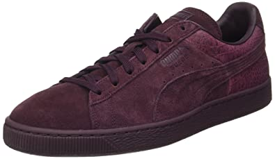 Puma suede classic casual emboss baskets rouge chaussures