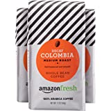 AmazonFresh Decaf Colombia Whole Bean Coffee, Medium Roast, 12 Ounce (Pack of 3)