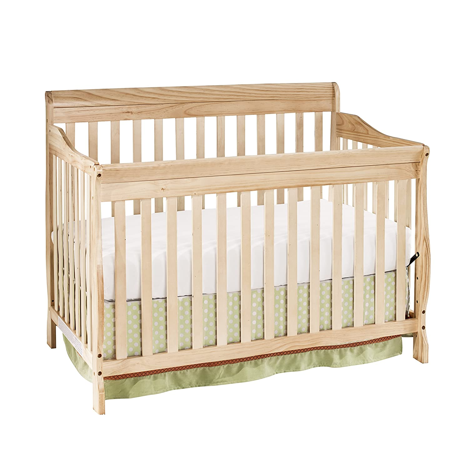 Amazon com big oshi stephanie 4 in 1 convertible crib modern unisex wood design for boys or girls adjustable height low to high convertible to