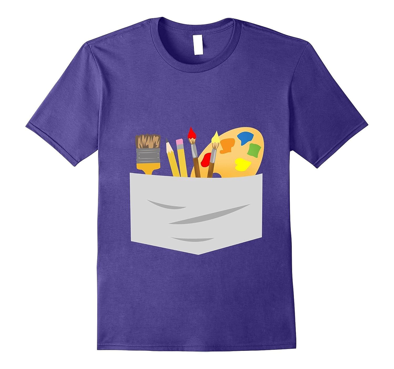 Fun Artist Halloween Costume Tee Shirt-FL