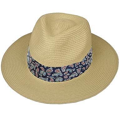 8243fd60 Hey Hey Twenty Fedora Hat with Travel Tube : Paisley Blue - Size: 57cm (