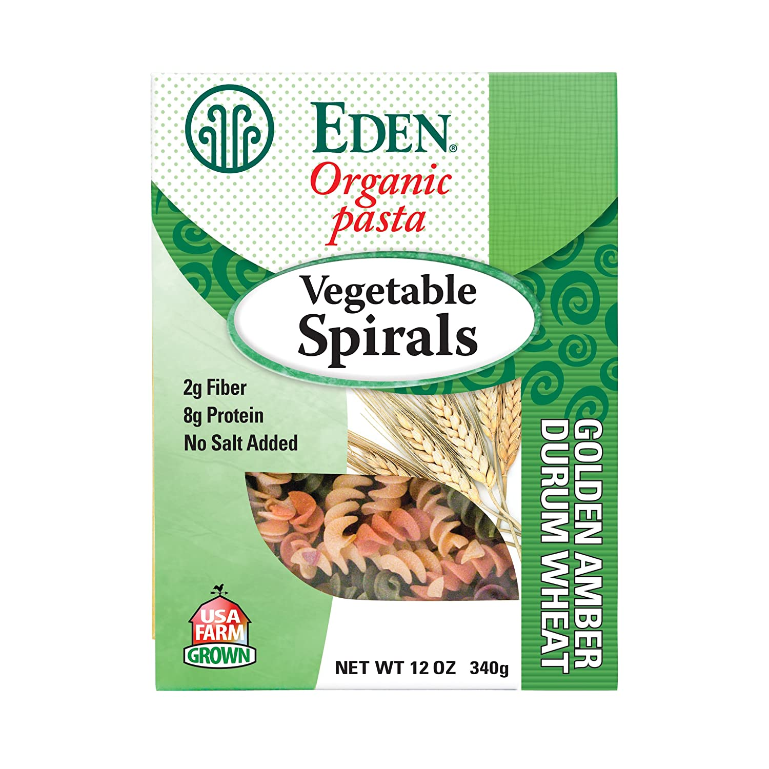 Eden Organic Vegetable Spirals, 12-Ounce Packages (Pack of 6)