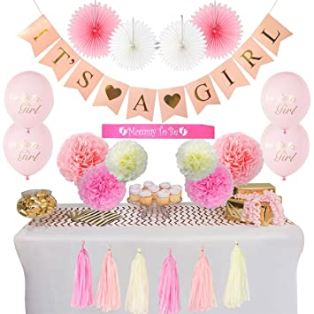 Amazon Baby Shower Decorations For Girl 22 Pieces Its A Girl