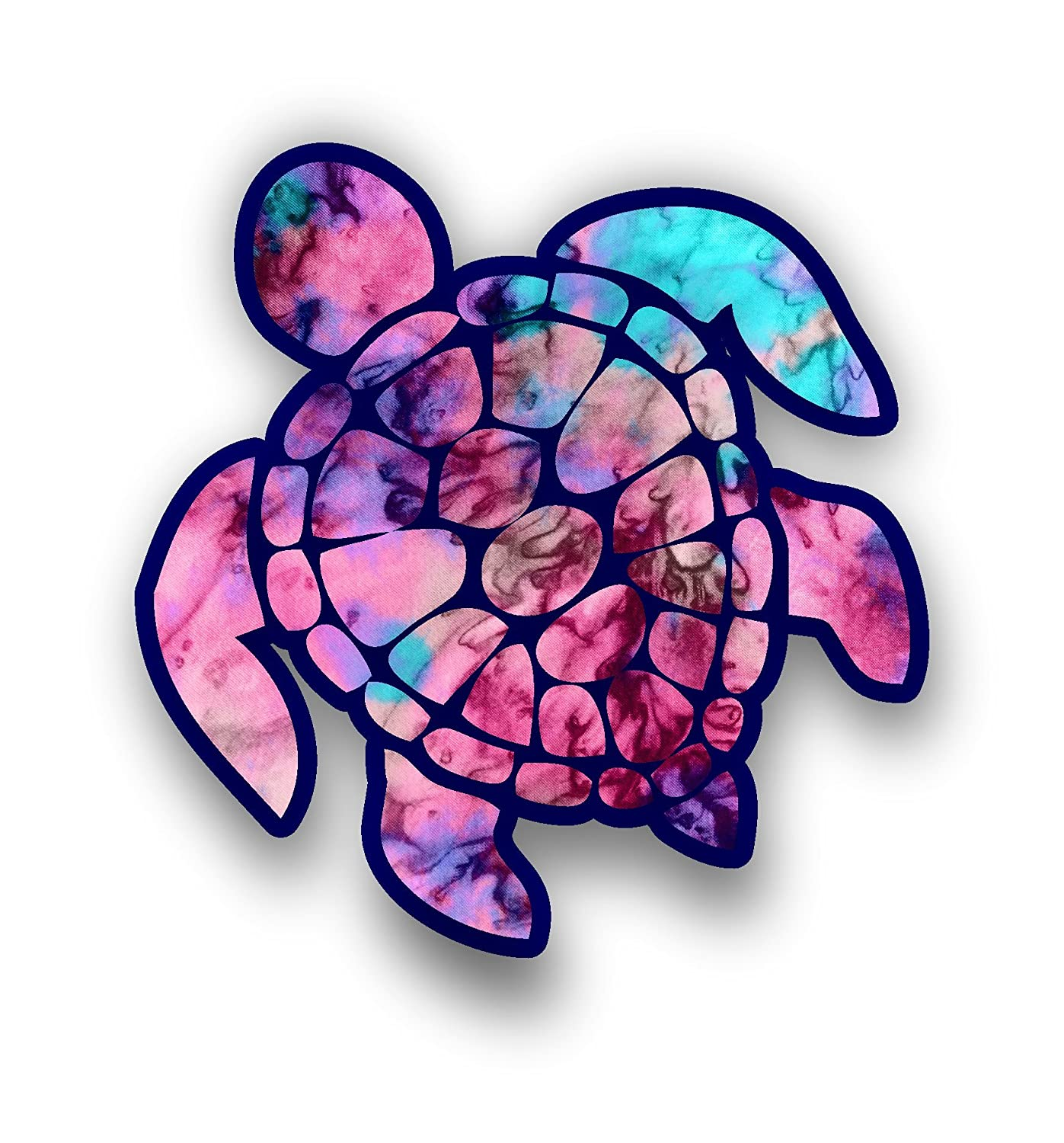 Vinyl Junkie Graphics Sea Turtle Decal//Sticker Starry Sky