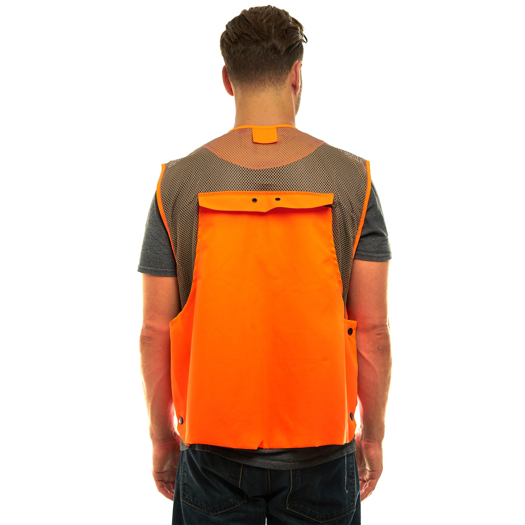 TrailCrest Mens Blaze Orange Safety Deluxe Front Loader Vest, 3X by TrailCrest (Image #2)