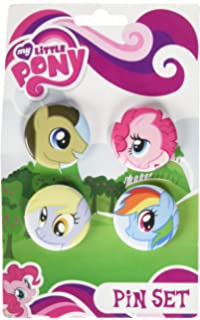 amazon com my little pony pins pinback pins collection set of 6