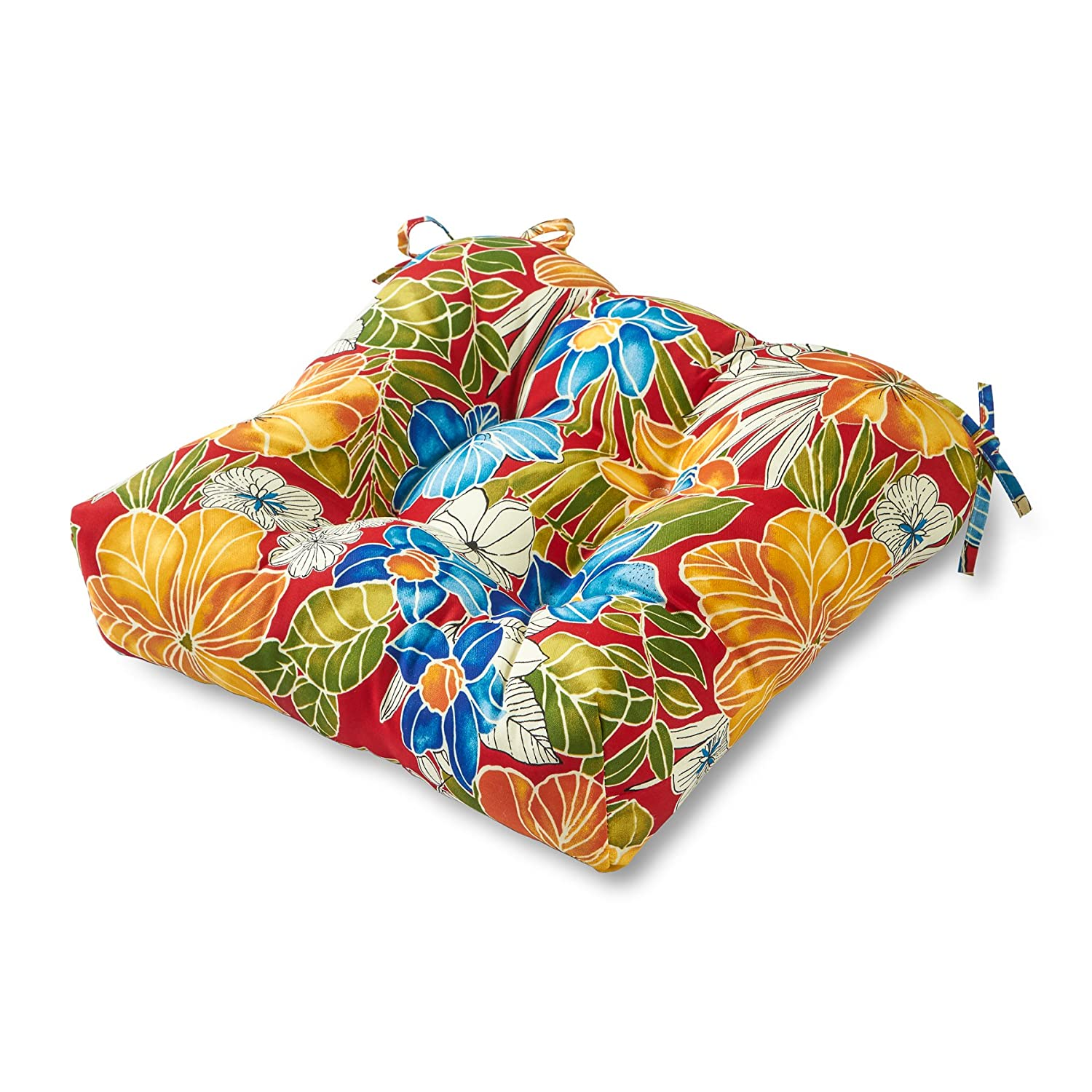 Greendale Home Fashions Indoor Outdoor Chair Cushion, 20-Inch, Aloha Red