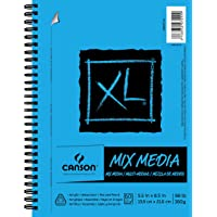 L Series Mix Paper Pad, Heavyweight, Fine Texture, Heavy Sizing for Wet or Dry Media, Side Wire Bound, 98 Pound, 5.5 x 8…