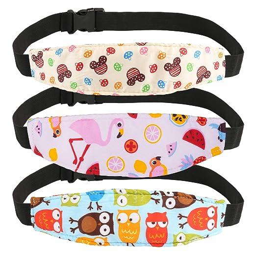 Kesote 3 Stück Einstellbar Schlaf Stellungsregler Kopf Halter Für Baby Kinder Kinderwagen Kindersitz Baby