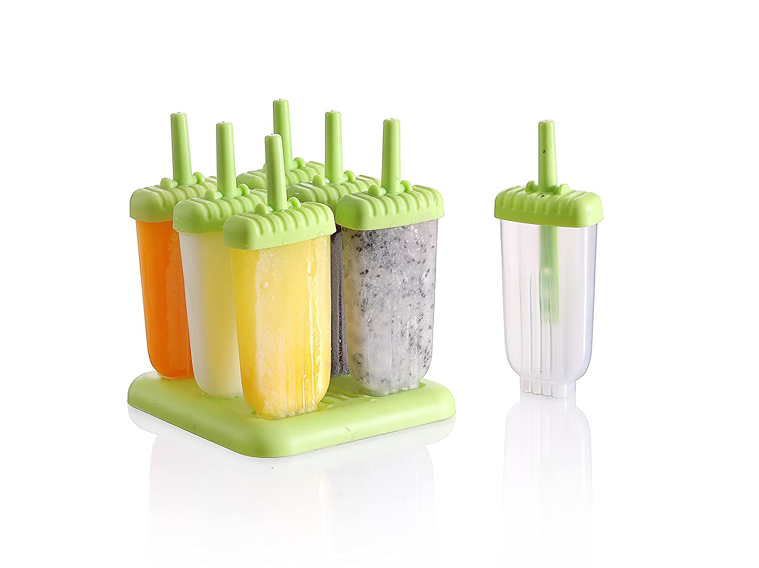 Ice Pop Maker Popsicle Tray Mold set - (6 pack set) Hampton Home