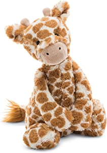 Jellycat Bashful Giraffe Stuffed Animal, Medium, 12 inches