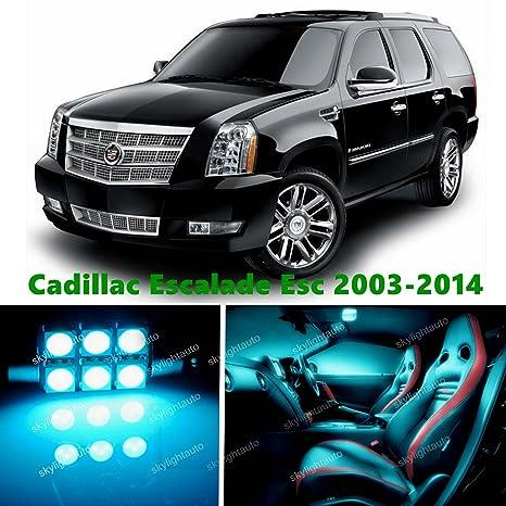 skylightauto 18pcs LED Premium ICE Blue Light Interior Package Deal for  Cadillac Escalade ESV 2003-2014