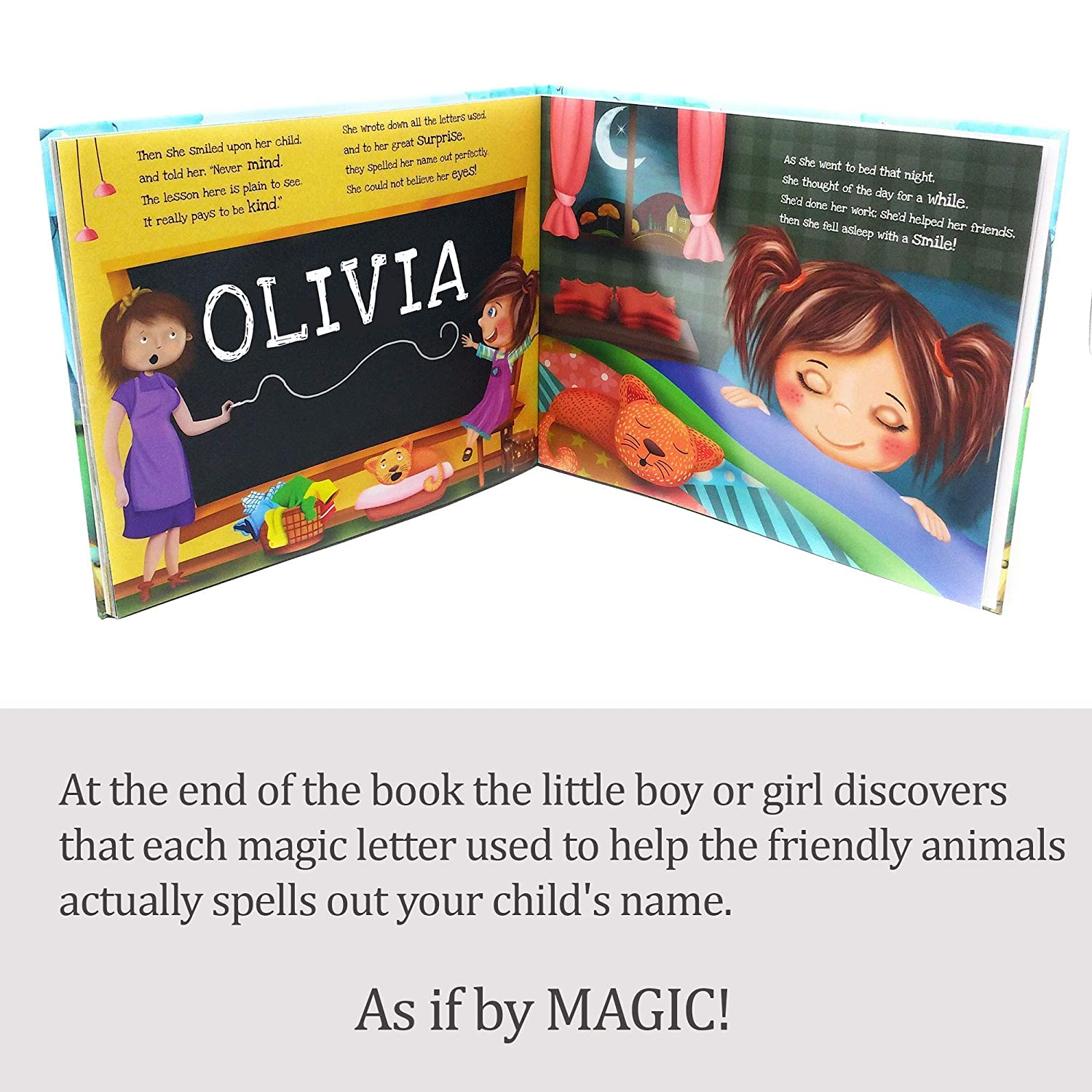 My Magic Name Girls Personalized Book for Boys Hardback Available Great Keepsake Gift for Children