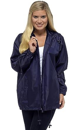 Storm Ridge Indigo ROC Ladies Pack Away Rain Mac Full Zip Jacket  Amazon.co. uk  Clothing 3ac73e1545