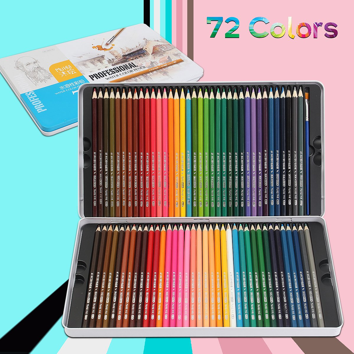 ARTISTORE Set di 72 Matite Colorate Professionali matite colorate per fumetti, artisti, illustrazioni, interior designer, studenti, arte e adulti amanti del colorare, ottima idea regalo per Natale