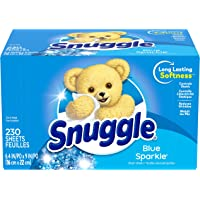 230-Count Snuggle Fabric Softener Dryer Sheets Blue Sparkle