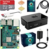 ABOX Raspberry Pi 3 B+ Complete Starter Kit with Model B Plus Motherboard 32GB Micro SD Card NOOBS, 5V 3A On/Off Power…
