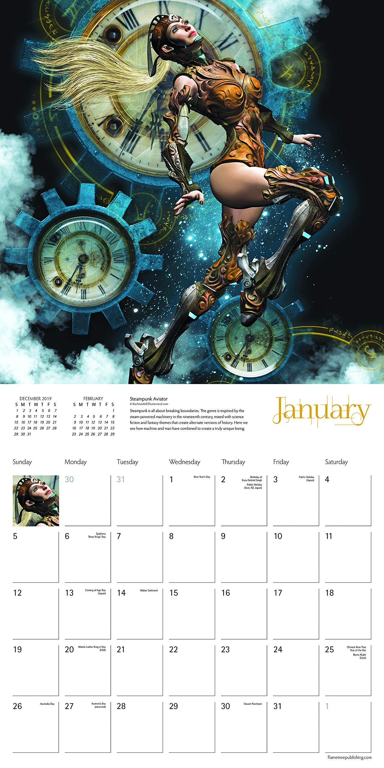 Steampunk Wall Calendar 2020 (Art Calendar) 5
