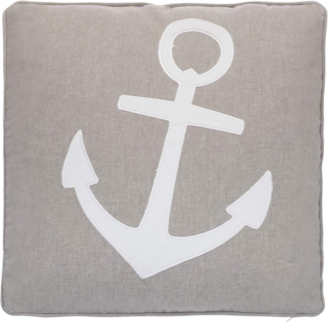 Levtex Home Provincetown Anchor Applique Pillow