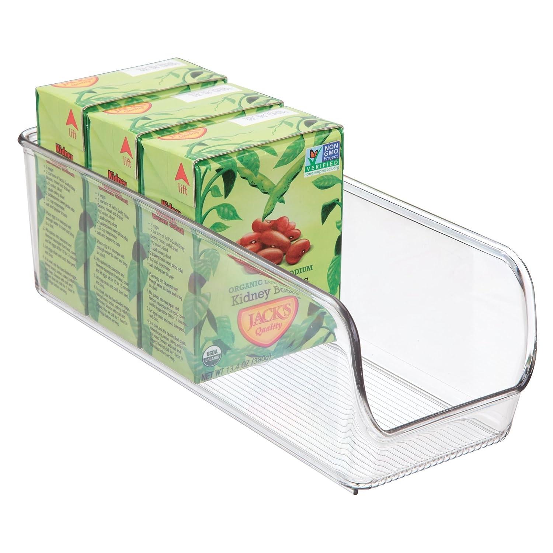 trasparente Scatola cucina ideale per cassetti Contenitore cucina in plastica di medie dimensioni senza coperchio iDesign Organizer cucina con manico dispensa e altro
