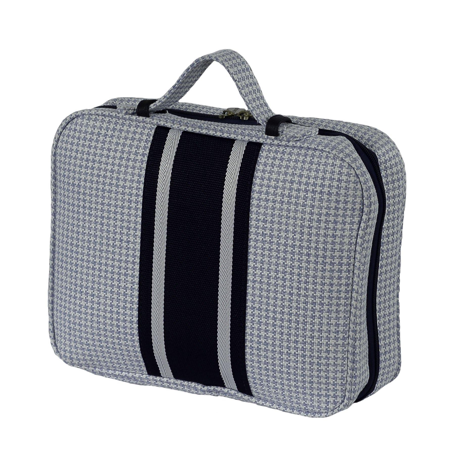 Bellemonde Hanging Toiletry Bag Travel Kit for Men and Women | Washable, Stain-resistant | Timeless Design Toiletry Organizer, Makeup Bag, Cosmetic Bag | Packs Flat 12'' x 10'' x 3.5'' | BL178PB Blue by Bellemonde (Image #2)