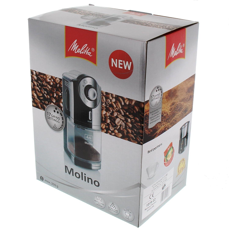 Melitta Molinillo de caf/é el/éctrico Disco plano Molino Negro 1019-02