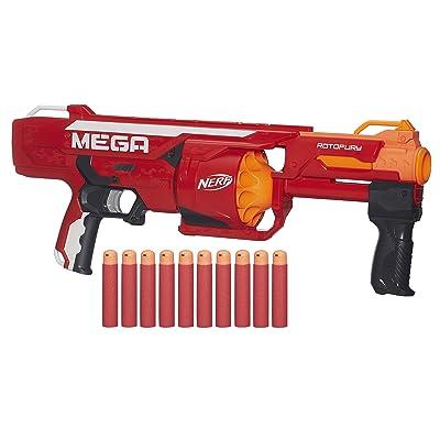NERF N-Strike Mega Series Roto Fury Blaster: Toys & Games