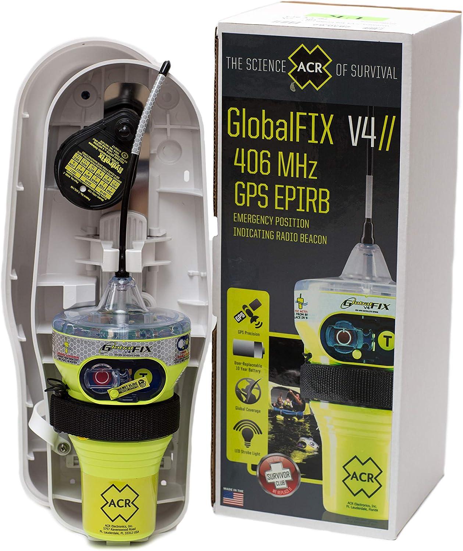 :ACR GlobalFix V4 Cat 1 EPIRB (Automático) - Radiobaliza de Socorro Marino con GPS Ideal para Embarcaciones.