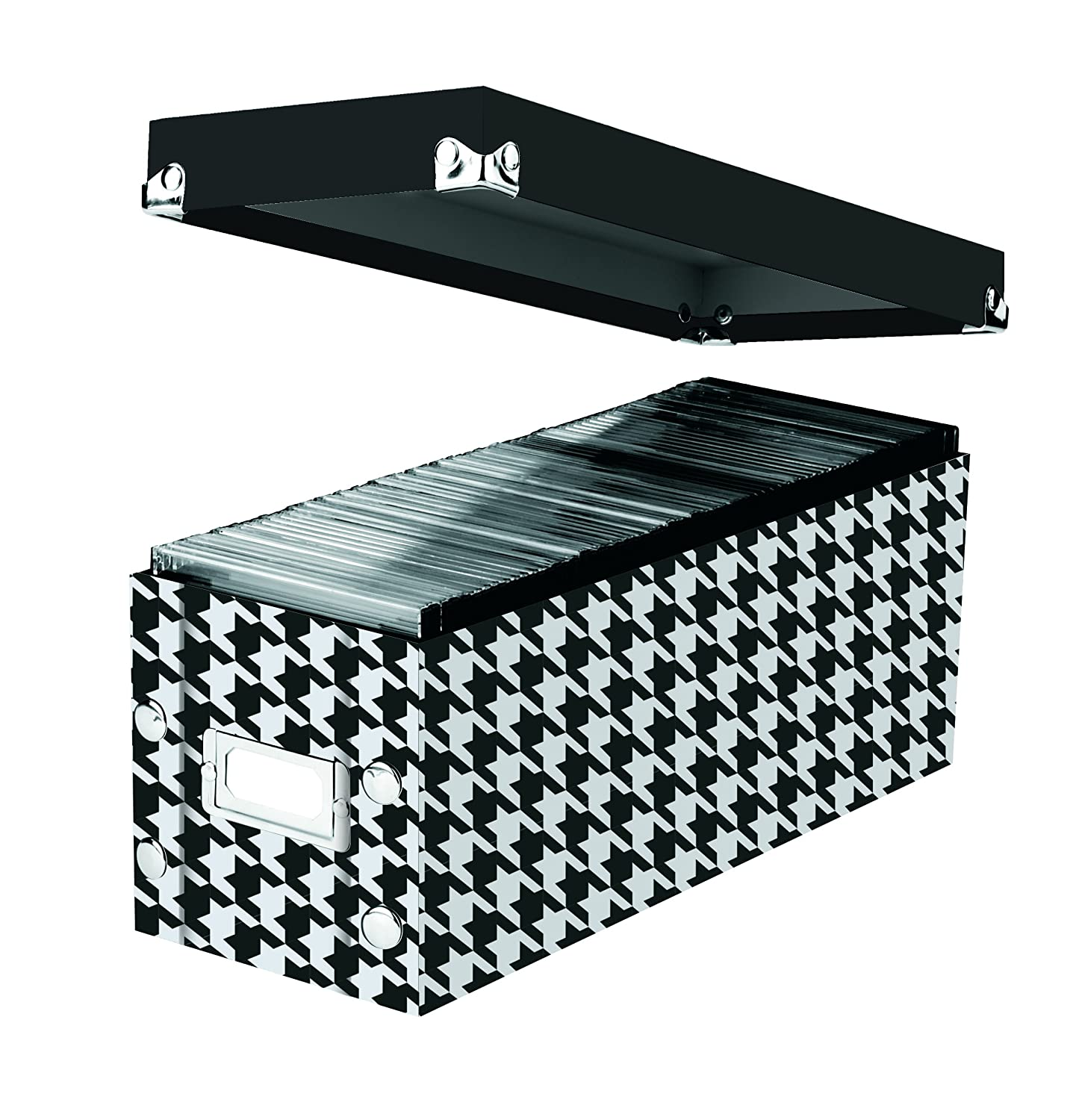 Snap-N-Store CD Storage Boxes Each 13.25 x 5.125 x 5.125 SNS01617 Black Set of 2 Boxes Holds up to 165 CDs