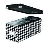 "Snap-N-Store Standard CD Storage Box, 13.25"" x 5.125"" x 5.125"", Houndstooth (SNS03312)"
