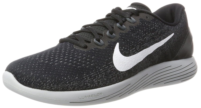 Nike Lunarglide 9, Zapatillas de Running para Hombre 42.5 EU|Multicolor (Black/White/Dark Grey/Wolf Grey 001)