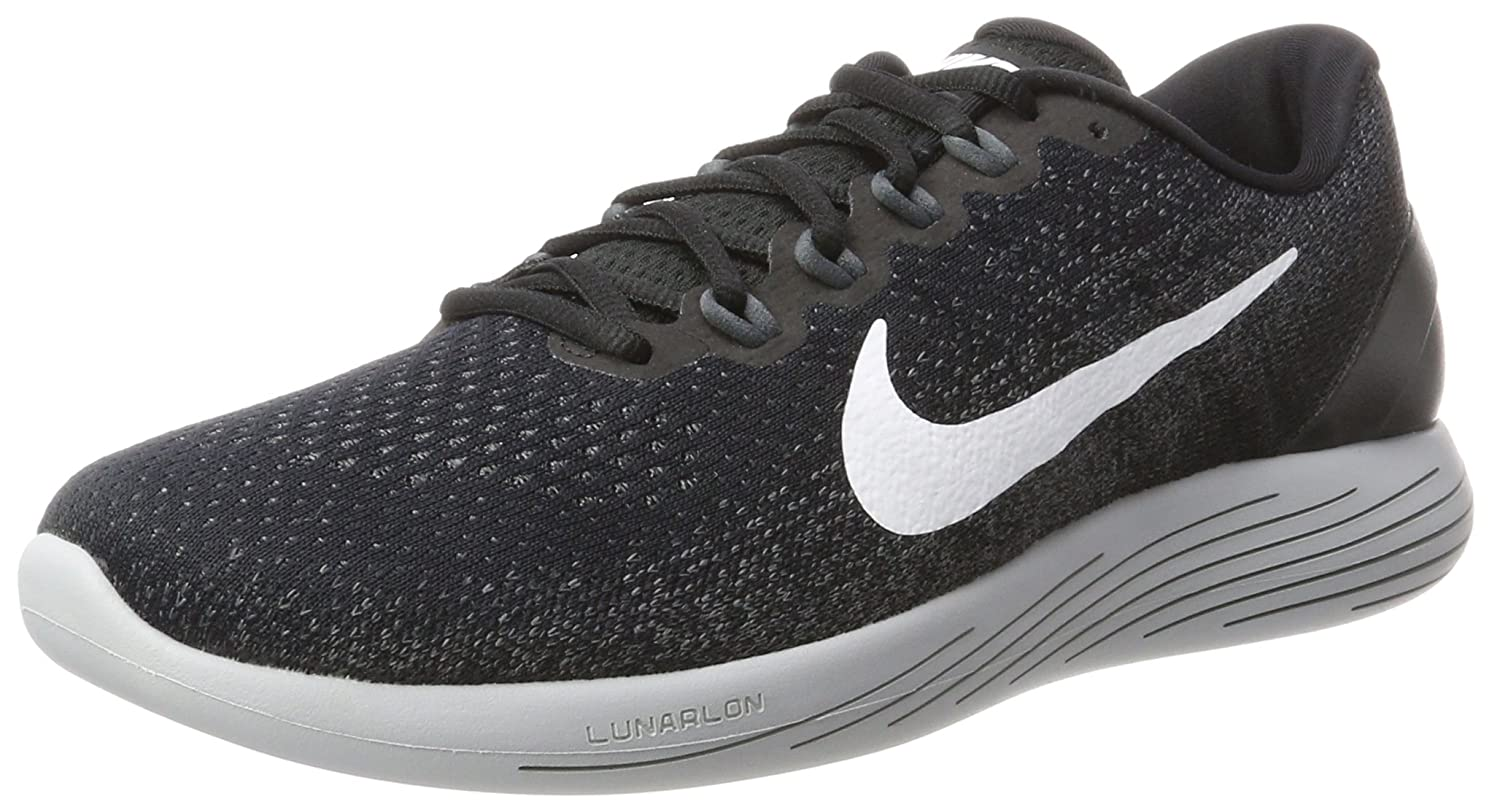 57f352047a2078 Nike Men s Lunarglide 9 Blk Wht-Dark Grey Running Shoes-9 UK India (42.5  EU) (904715-001)  Buy Online at Low Prices in India - Amazon.in