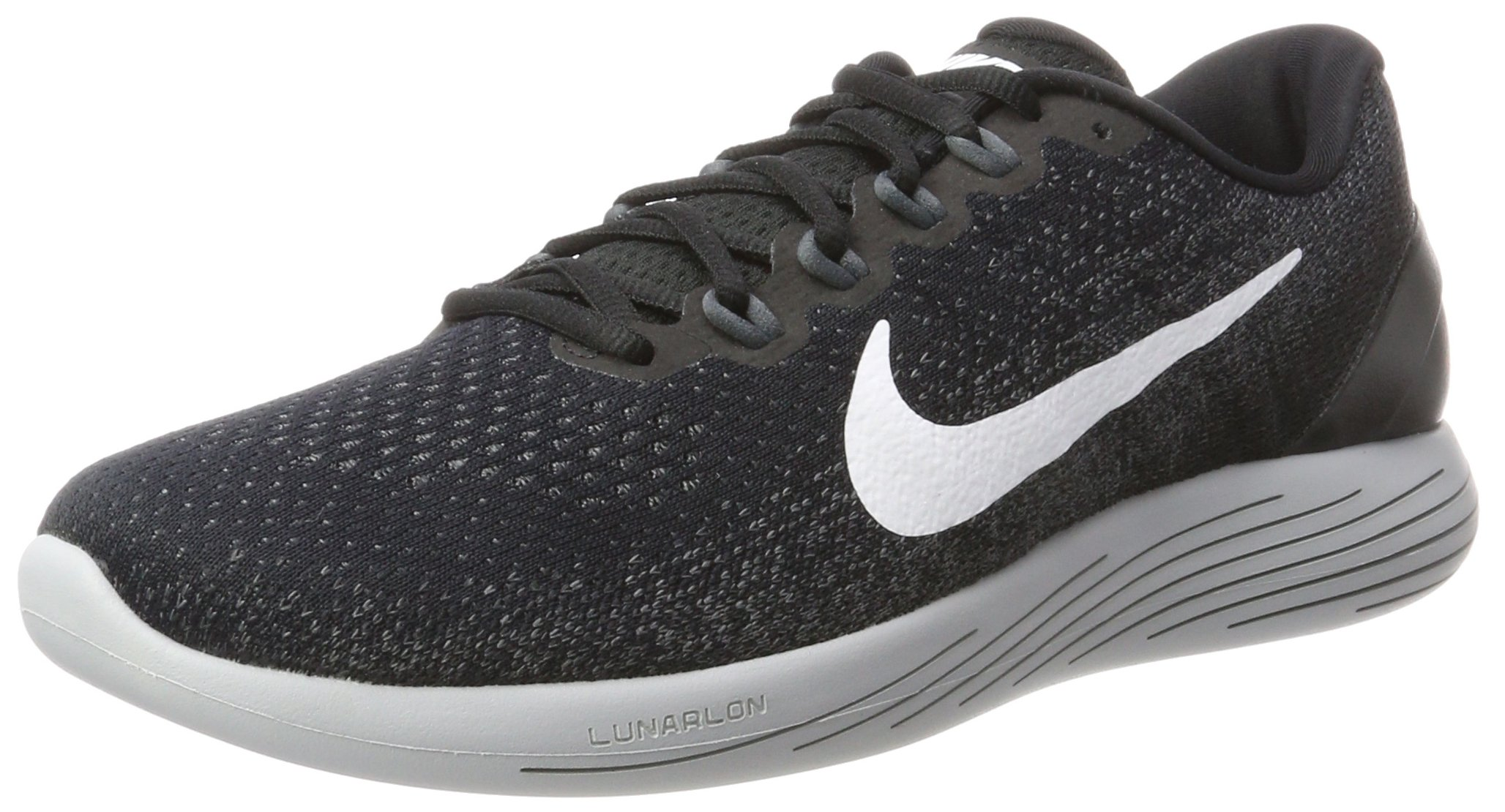 official photos 455cd fc2b1 Nike Men's Lunarglide 9 Running Shoe Black/White/Dark Grey/Wolf Grey Size  11 M US