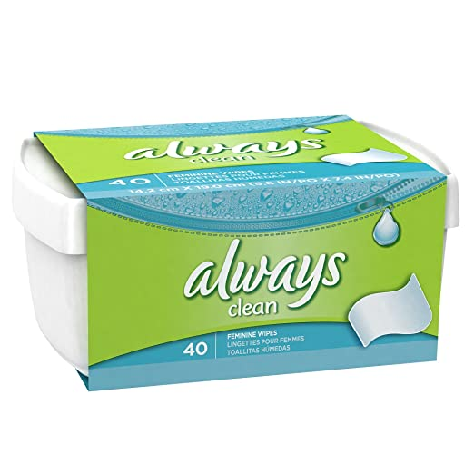 Amazon.com: Always Feminine Wipes , 40 CT (Pack of 3): Health & Personal Care