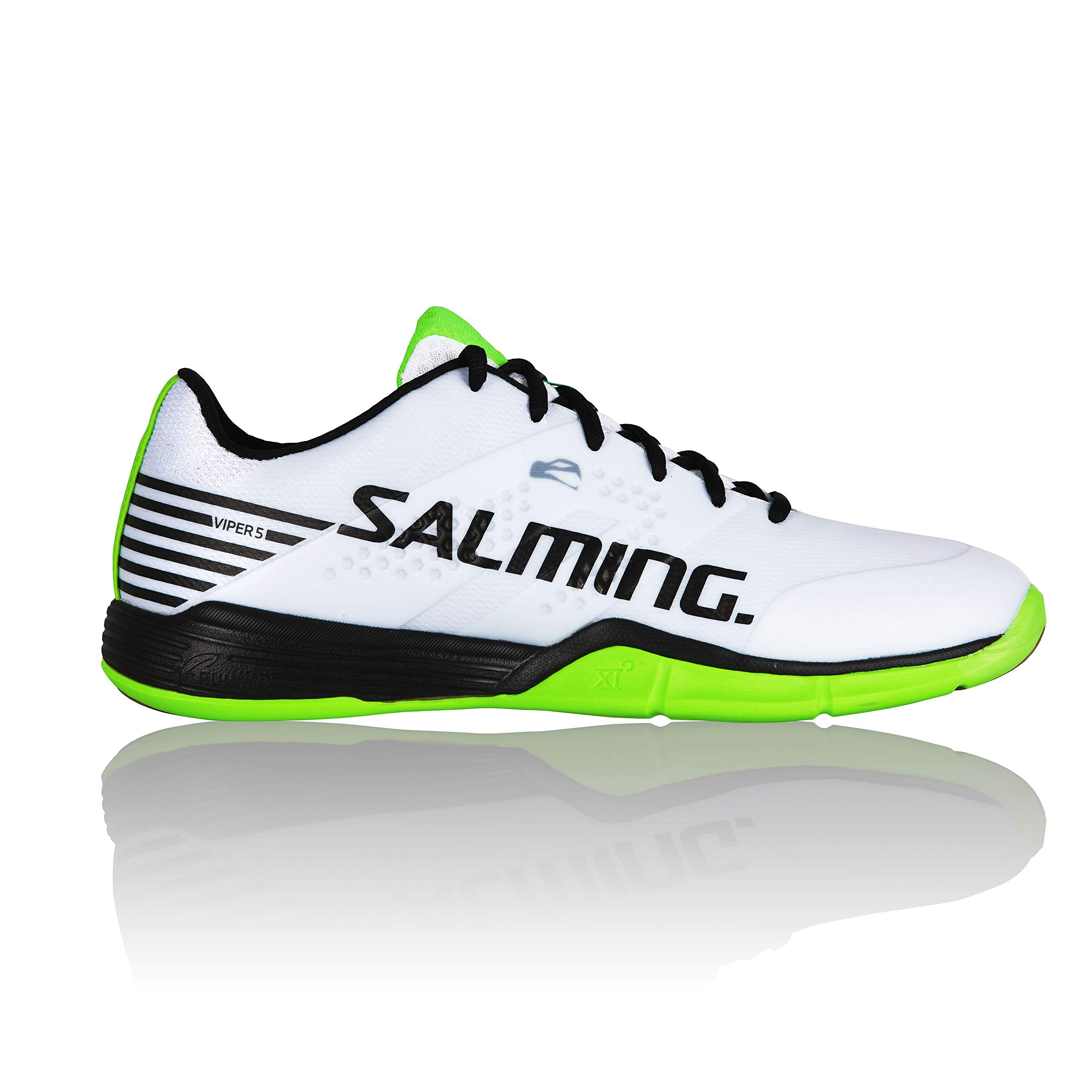 Salming Viper 5 Men Shoe, Color: White/Black, Size: 9.5 (1238071-0701-4313)