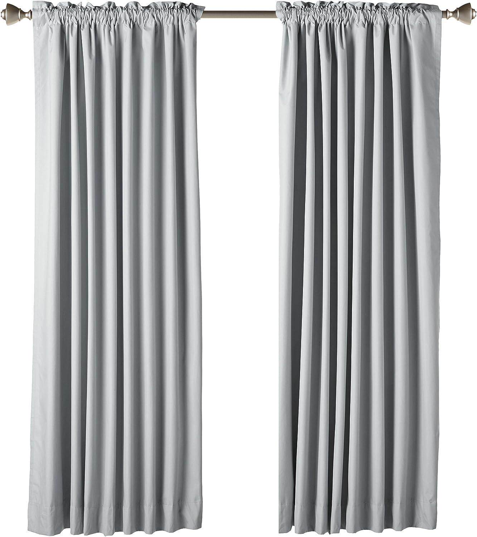 Deconovo Cortinas Opacas con Capa de Recubrimiento para Habitaci/ón 2 Piezas 117 x 138 cm Blanco