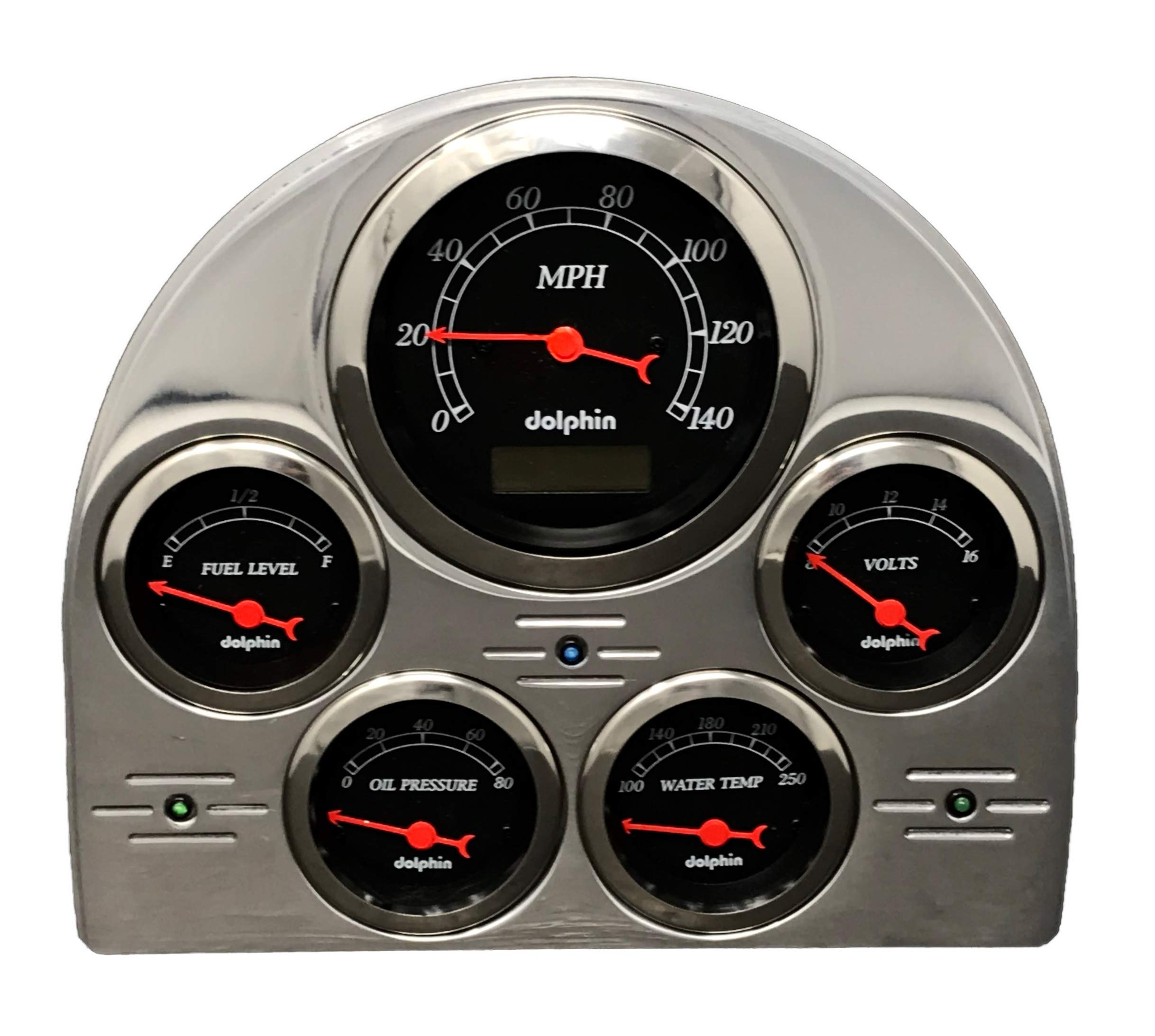 Compatible with 1953 Ford Car 5 Gauge Dash Cluster Panel Set Programmable Black by Dolphin Gauges