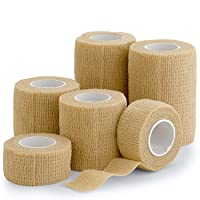 "6 Pack, Self Adherent Cohesive Tape - 1"" 2"