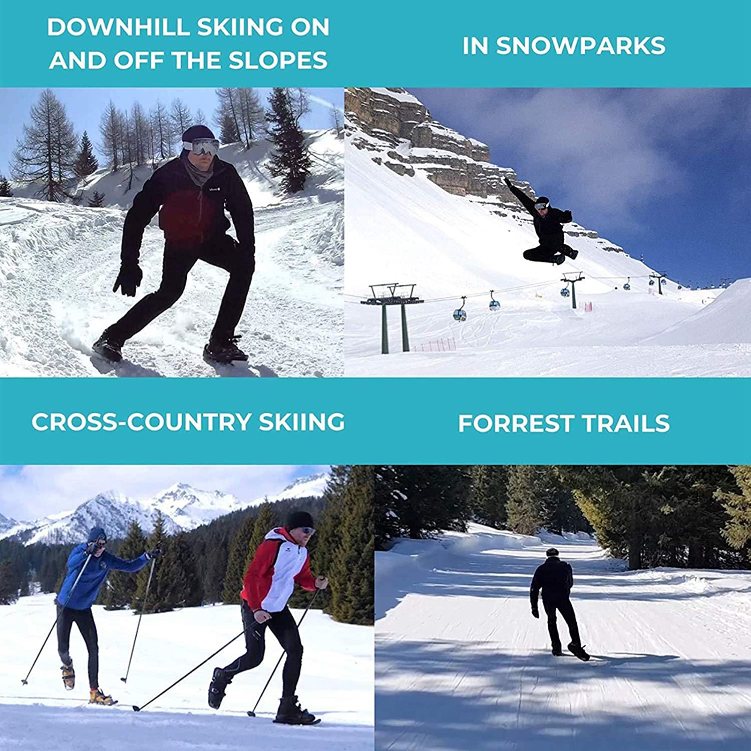 ZAHNG Outdoor Ski Mini Snow Shoe 15.1 Snowshoes for Men and Women Adjustable Snowboard Snow Sled Shoes Anti-Slip Foot Panels Winter Sports Skiing Equipment for Outdoor Enthusiasts