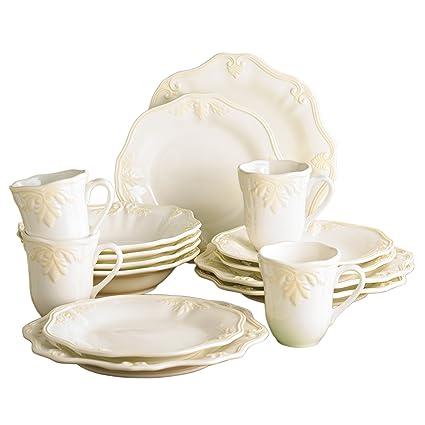 Lenox Butlers Pantry Gourmet 16-Piece Dinnerware Set  sc 1 st  Amazon.com & Amazon.com | Lenox Butlers Pantry Gourmet 16-Piece Dinnerware Set ...