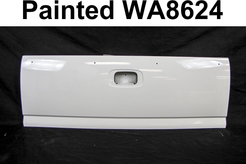 Bundle PAINTED WA8624 WHITE Tailgate w//Handle Bezel For SILVERADO Fleetside 1999-2006 GM1900115 GM1916102 GM1915105