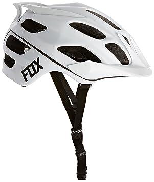 Fox Flux - Casco MTB para Hombre - Blanco Contorno de la Cabeza 59-63