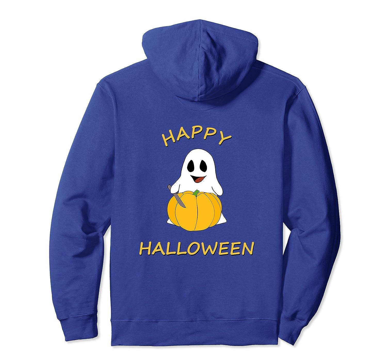 Spooky Halloween Ghost Carving Pumpkin Hoodie for Men-ANZ