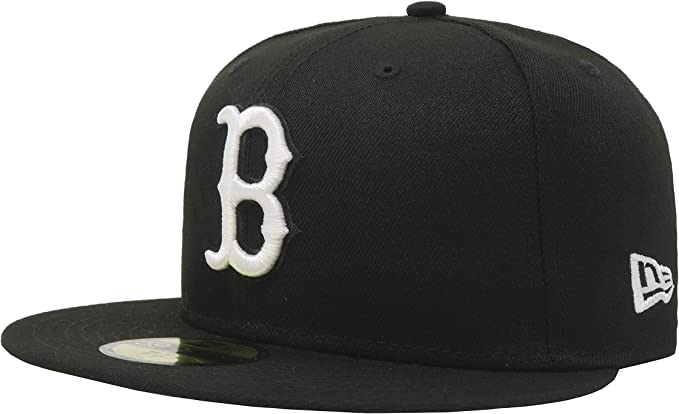 new concept reasonable price best shoes Amazon.com: New Era 59Fifty Hat MLB Basic Boston Red Sox Black ...