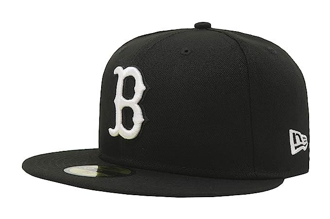486d6d5ff36 Amazon.com  New Era 59Fifty Hat MLB Basic Boston Red Sox Black White ...