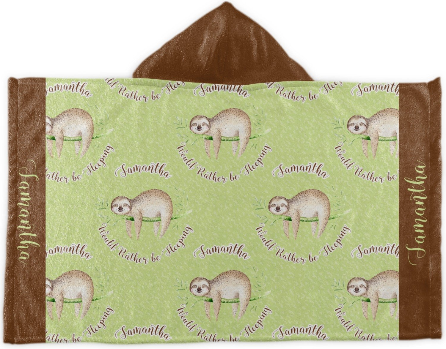 RNK Shops Sloth Kids Hooded Towel (Personalized)