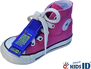 Smartkidsid Child Id/Medical Id Shoe Tag! Child Identification. Sports Id - No Engraving Necessary! (Blue)