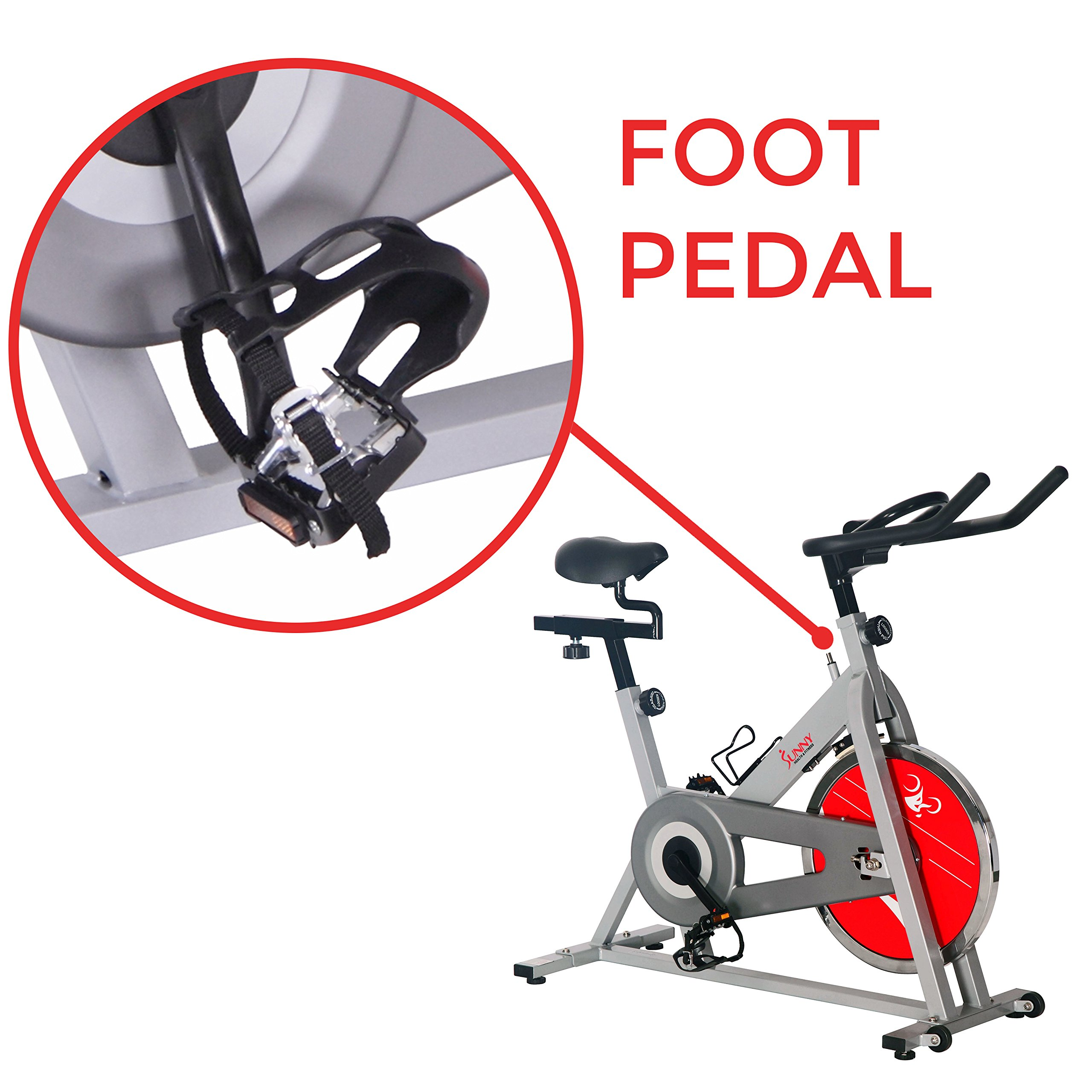 Sunny Health & Fitness SF-B1001S Indoor Cycling Bike, Silver by Sunny Health & Fitness (Image #6)