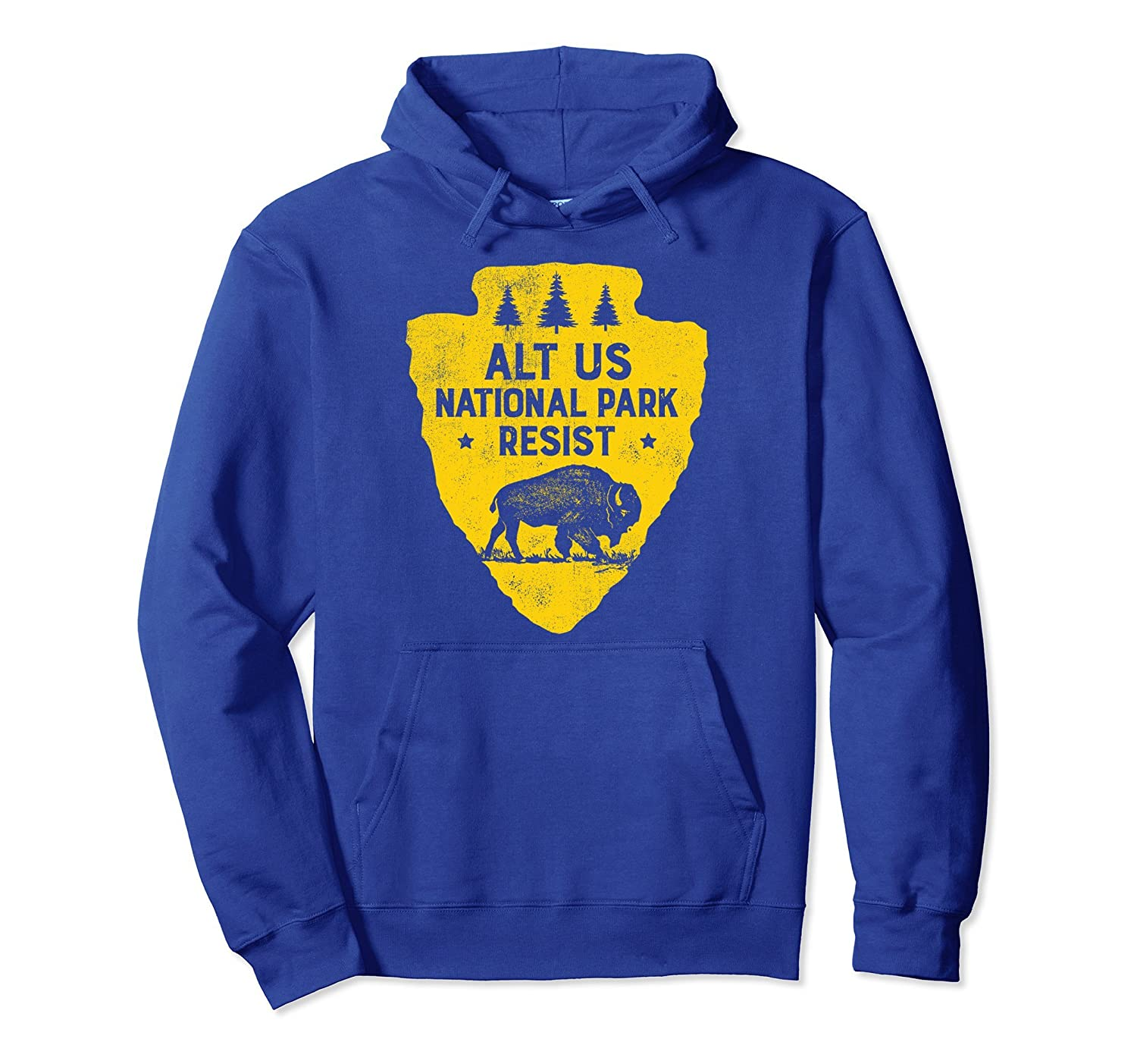 ALT US National Park Resist Service Hoodie Shirt Bison-ah my shirt one gift